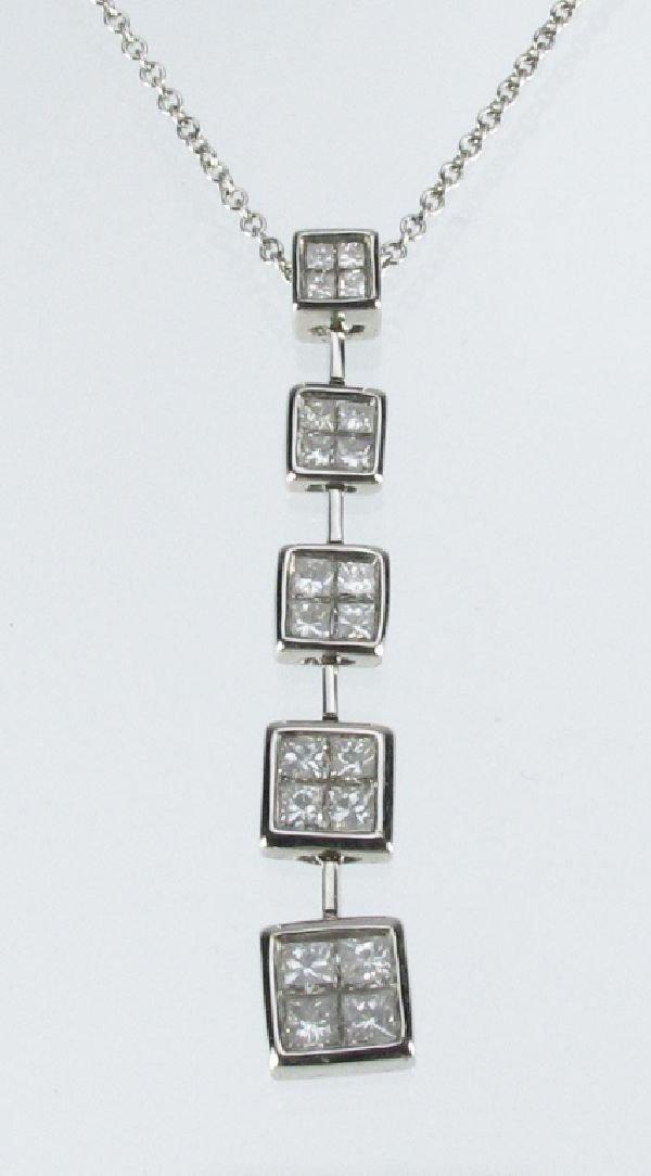 105: Lady's Diamond Pendant Necklace 14K White Golf