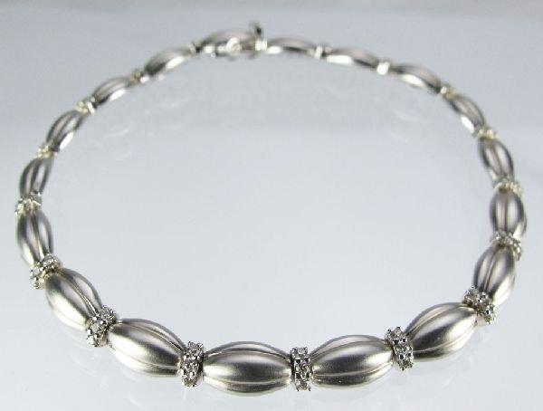 112: 14K White Gold Diamond Bracelet by Gabriel & Co.