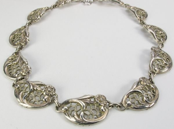 117: Sterling Silver Necklace by Dancecraft