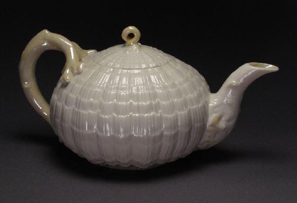 """118: Belleek Tridacna"""" Teapot"""""""