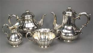 Ca. 1858 4-Pc Elkington Tea Service