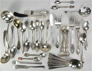 Assortment of Sterling and 800 Silver Flatware