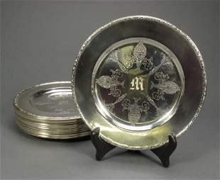 "12 Sterling 6"" Diameter Plates"