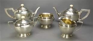 5 Piece Alvin Sterling Silver Coffee &Tea Service