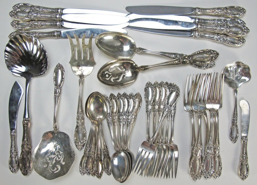 "15: Towle Sterling ""King Richard"" 41 Pc Flatware"