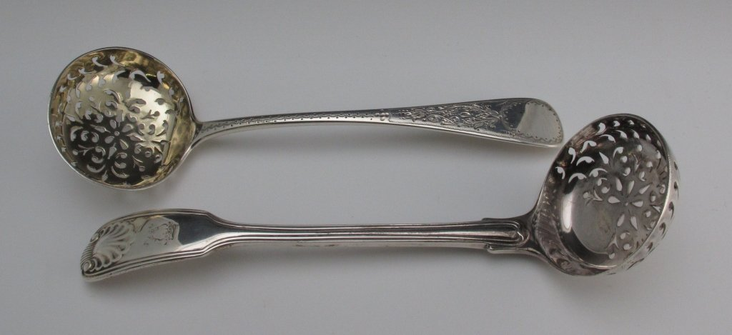 17: 2-1800s Victorian Sifter Ladles
