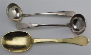 3 Silver Serving Pieces, 17th & 18th C, Scotland