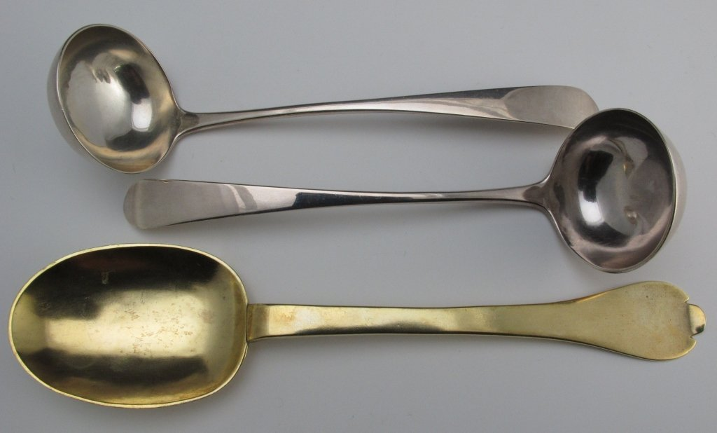 19: 3 Silver Serving Pieces, 17th & 18th C, Scotland