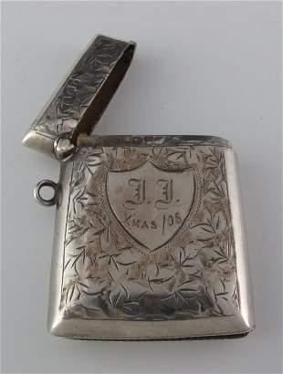 Sterling Silver English Matchbox