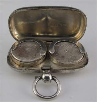 English Silver Sovereign Case Early 1900s