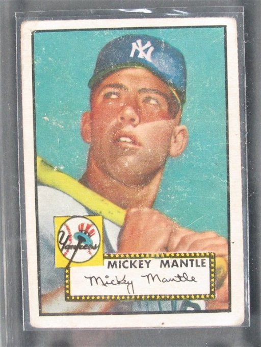 174 1952 Topps Mickey Mantle Rookie Baseball Card