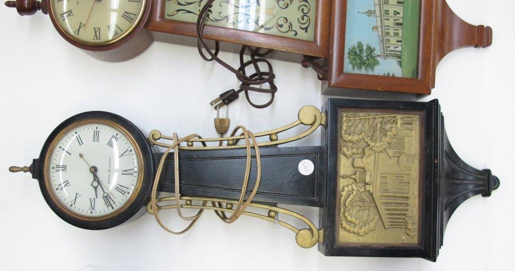 474: 2 Electric Banjo Clocks General Electric Herschede - 2
