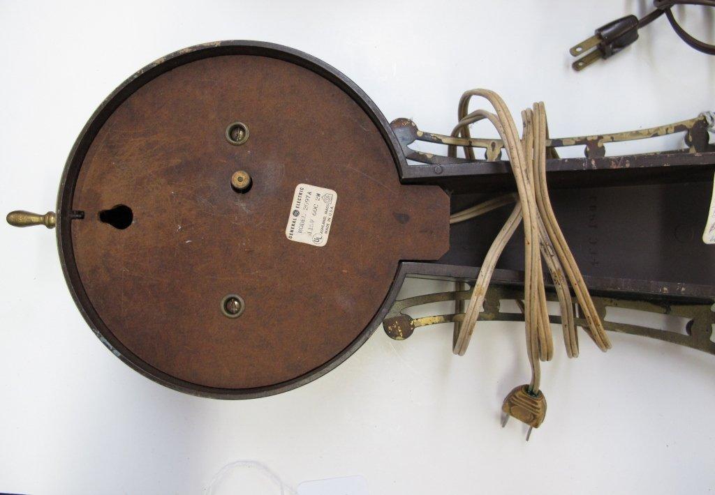474: 2 Electric Banjo Clocks General Electric Herschede - 3