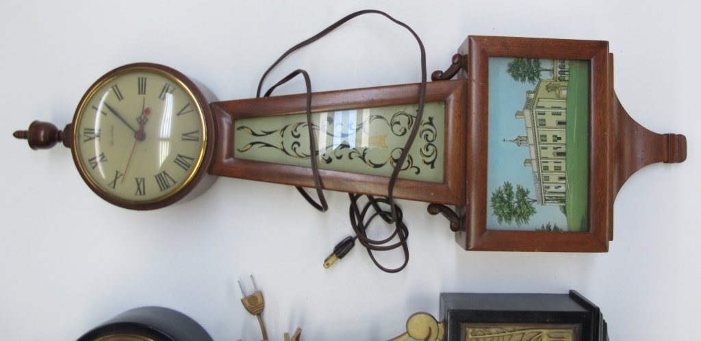 474: 2 Electric Banjo Clocks General Electric Herschede - 4