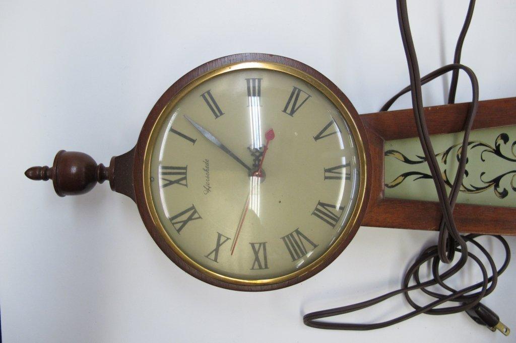 474: 2 Electric Banjo Clocks General Electric Herschede - 5