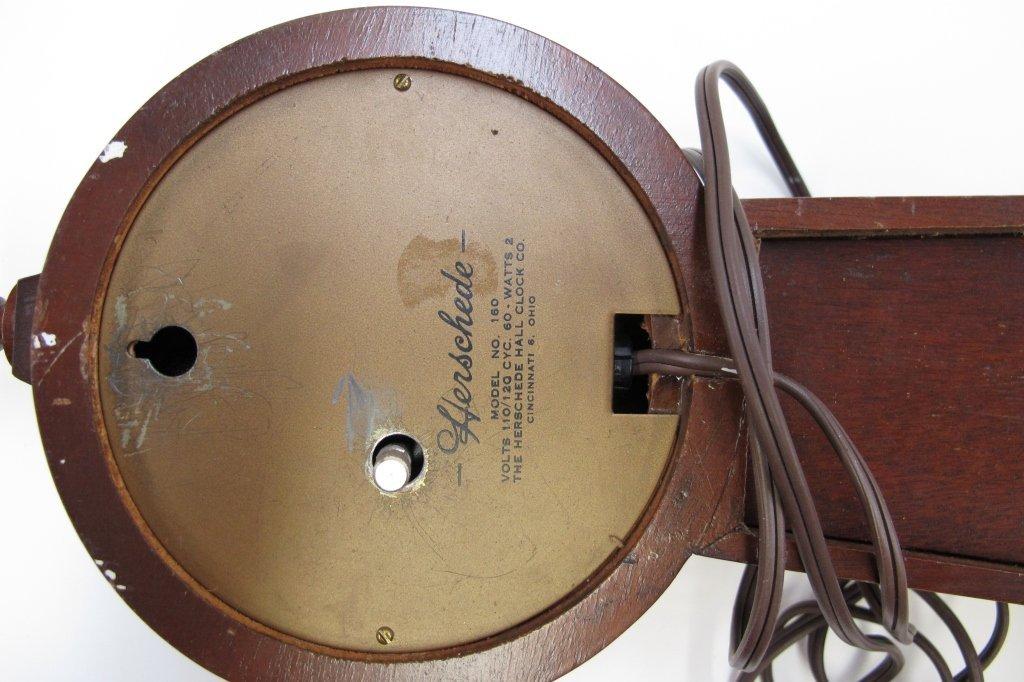 474: 2 Electric Banjo Clocks General Electric Herschede - 6