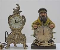482: 2 Novelty Electric Clocks