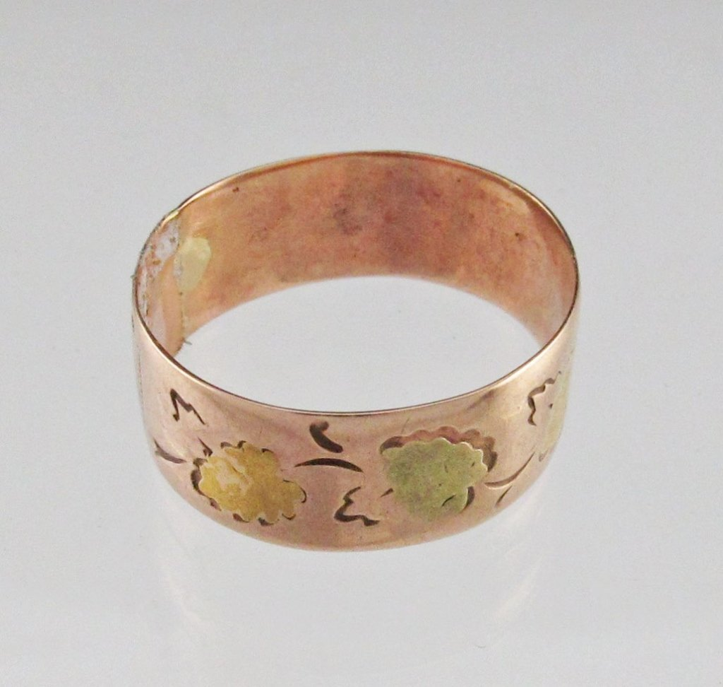 10K Two-Tone Rose/Yellow Gold Band