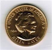 One 1984 American Arts Commemorative 1 oz Gold