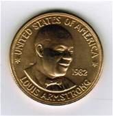 One 1982 American Arts Commemorative 1 oz Gold