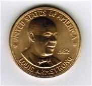 1982 American Arts Commemorative 1 oz Gold Coin
