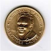 1983 American Arts Commemorative 1/2 oz Gold Coin