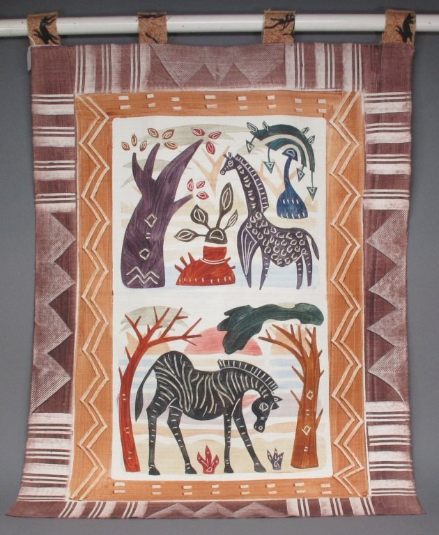 African Wall Tapestry Animal Design, Cape Town