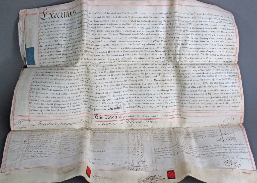 1780 George III Parchment Indenture 5-pg Document