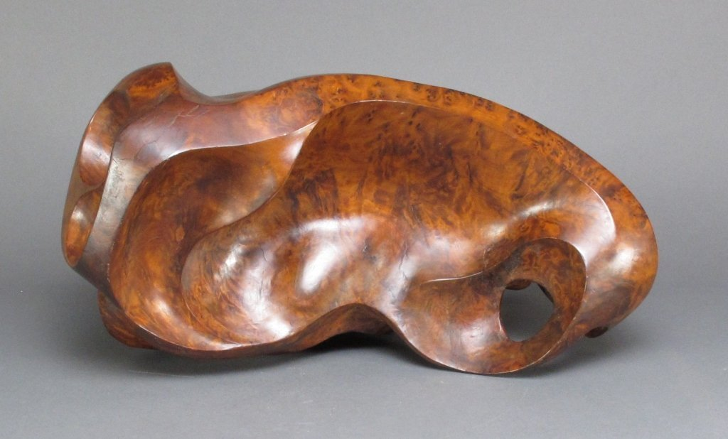 Carved Thuya Burl Wood Abstract Sculpture