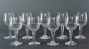 "9 Wine Glasses Royal Doulton ""Clarendon"""