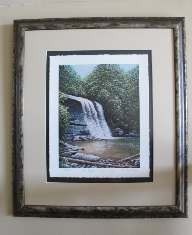 """Print Ray Byram """"The Falls in Summer"""" - 2"""