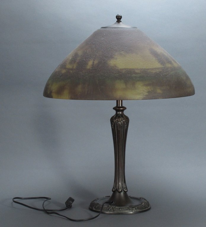 Jefferson Reverse Painted Scenic Lamp