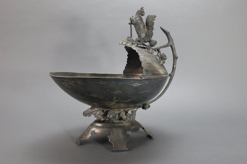Late 19th C Figural Nut Bowl by Middletown Plate C