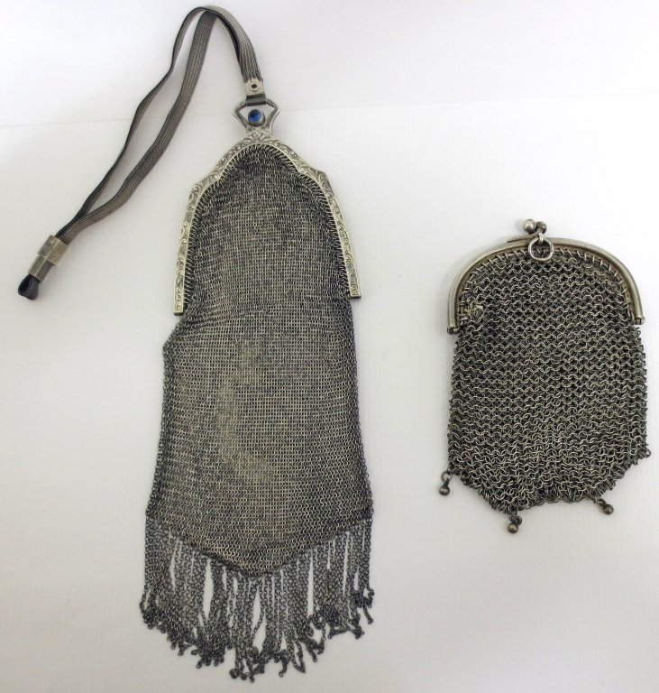 2 Sterling Silver Mesh Purse / Bags