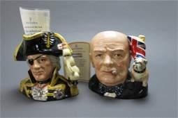 2 Royal Doulton Character MugsToby Jugs
