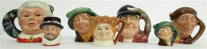7 Royal Doulton Character Mugs/Toby Jugs, includin