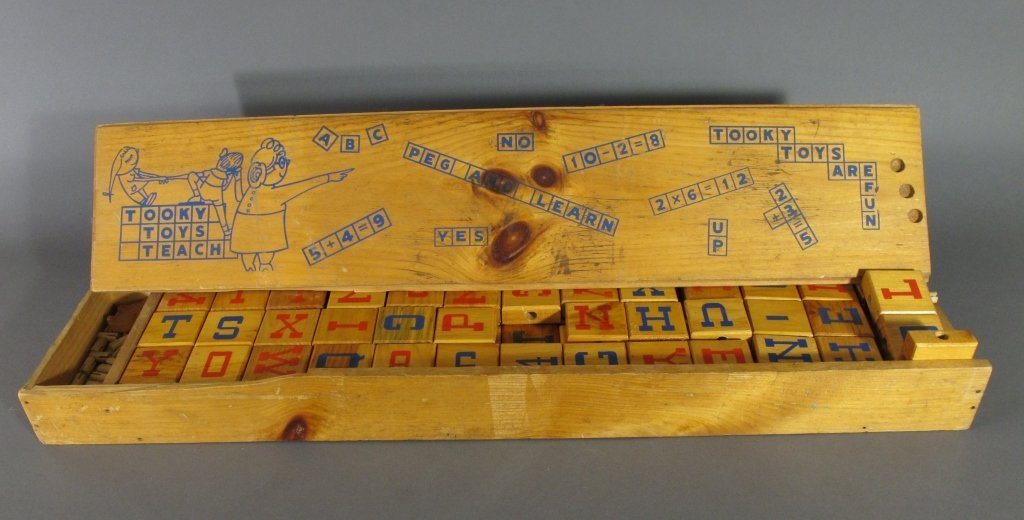 Early Wooden Spelling Blocks, Tooky Toys