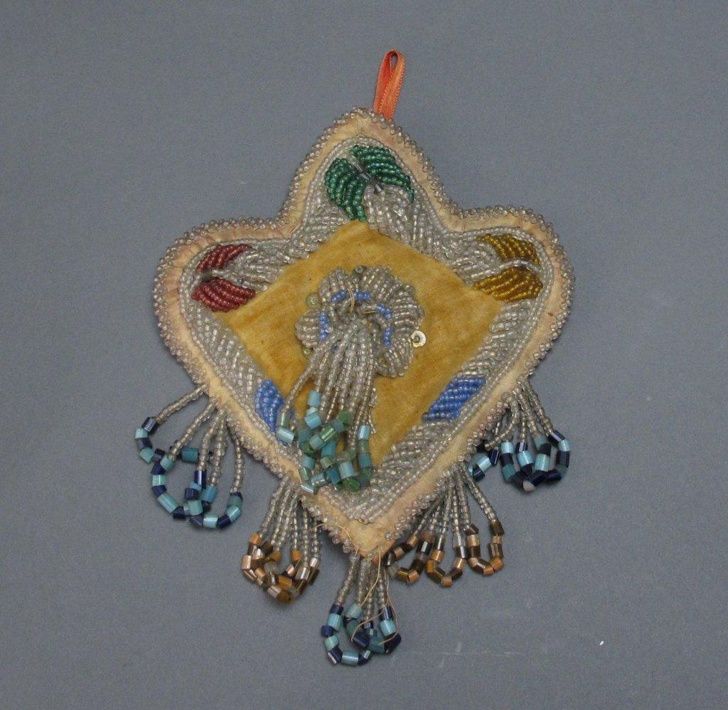 4 Native American Beaded Wall Hanging/Pin Cushions - 2