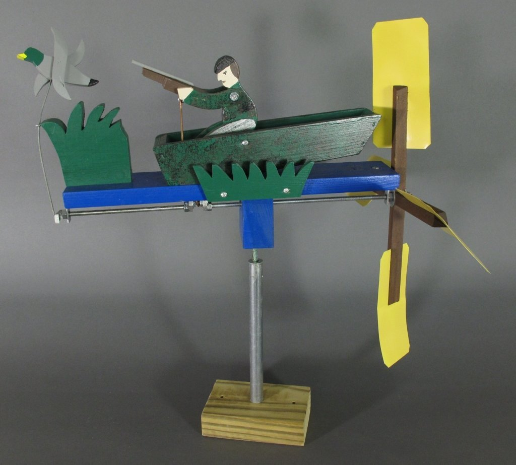 Painted Duck Hunter Whirligig