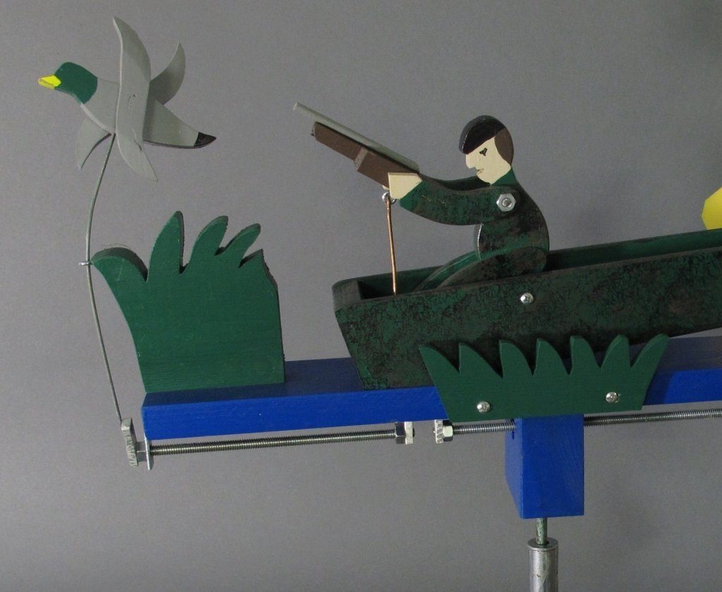 Painted Duck Hunter Whirligig - 2