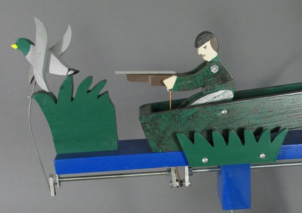 Painted Duck Hunter Whirligig - 3