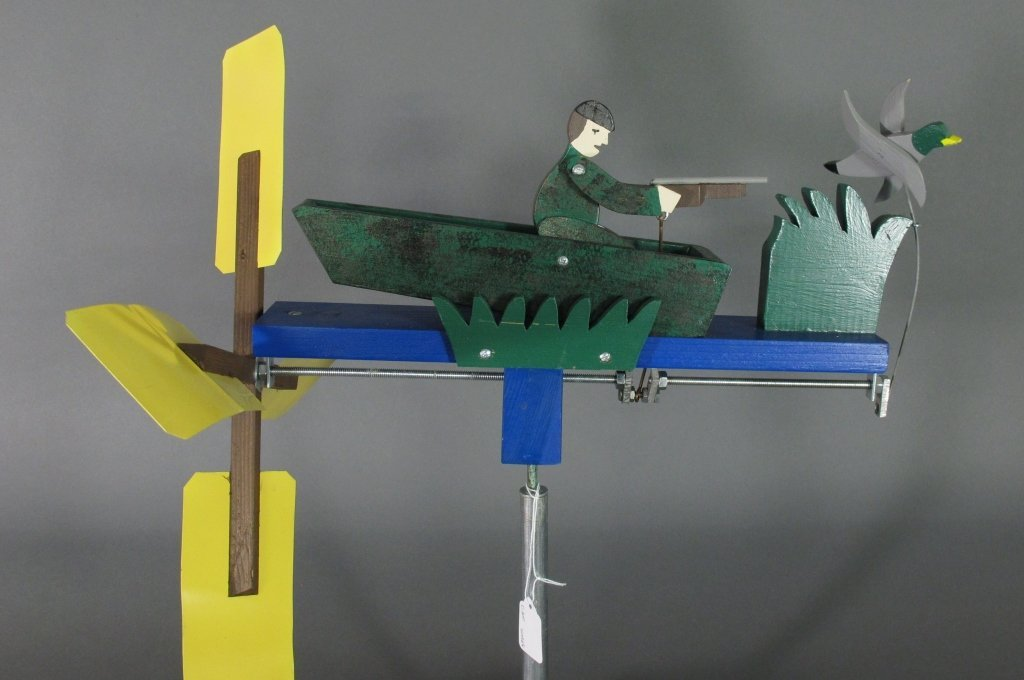 Painted Duck Hunter Whirligig - 5