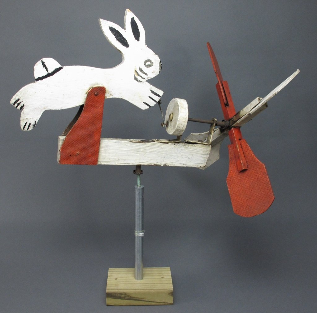 Painted Rabbit Whirligig
