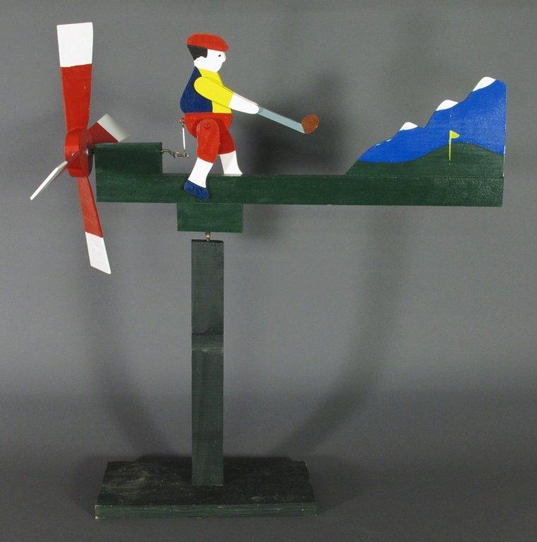 Painted Golfer Whirligig