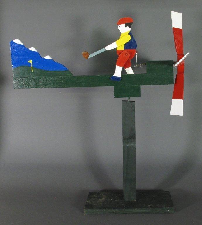Painted Golfer Whirligig - 2