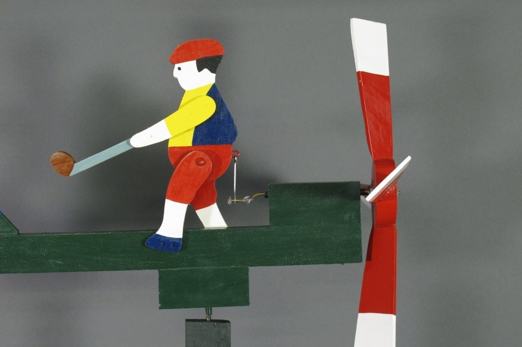 Painted Golfer Whirligig - 3