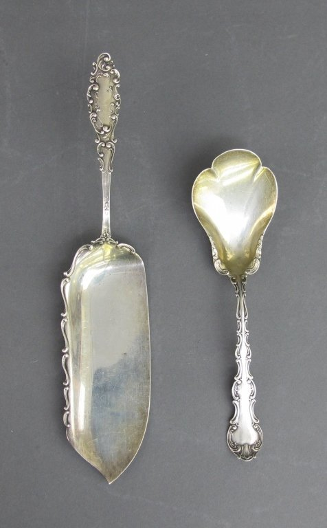 2 1800's Gorham Sterling Silver Serving Pieces