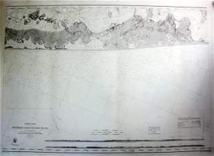 1857 U.S. Coastal Survey Print Long Island