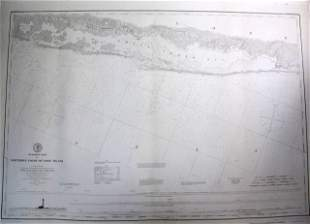 1851 U.S. Coastal Survey Print Long Island