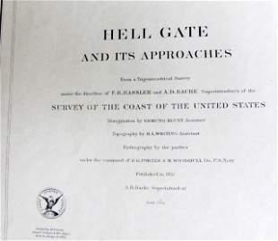 1851 U.S. Coastal Survey Print Hell Gate